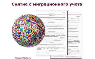 Снятие с миграционного учета иностранных граждан в 2020 году: бланк и образец уведомления