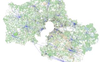 Карта экологии районов Москвы и Московской области в 2020 году