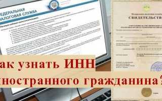 Как узнать ИНН иностранного гражданина по паспорту онлайн в 2020 году на официальном сайте